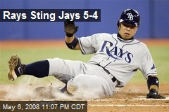 Rays Sting Jays 5-4