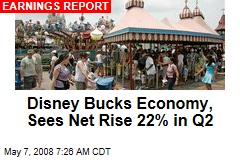 Disney Bucks Economy, Sees Net Rise 22% in Q2