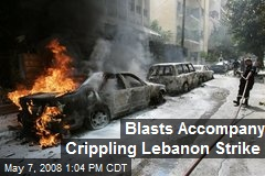 Blasts Accompany Crippling Lebanon Strike
