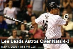 Lee Leads Astros Over Nats 4-3