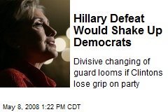 Hillary Defeat Would Shake Up Democrats
