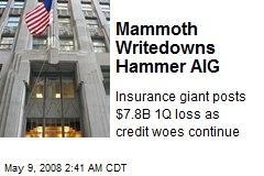 Mammoth Writedowns Hammer AIG