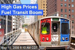 High Gas Prices Fuel Transit Boom