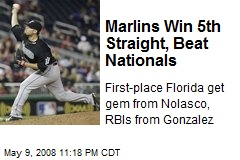 Marlins Win 5th Straight, Beat Nationals