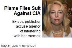 Plame Files Suit Against CIA