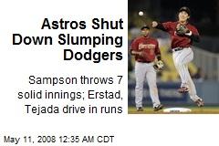 Astros Shut Down Slumping Dodgers