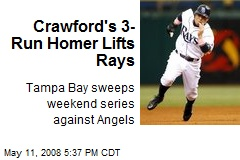 Crawford's 3-Run Homer Lifts Rays