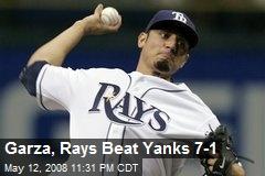 Garza, Rays Beat Yanks 7-1