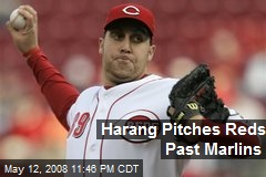 Harang Pitches Reds Past Marlins