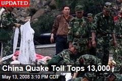 China Quake Toll Tops 13,000