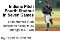 Indians Pitch Fourth Shutout in Seven Games