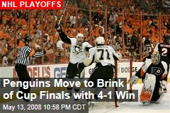 Penguins Move to Brink of Cup Finals with 4-1 Win