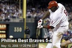 Phillies Best Braves 5-4