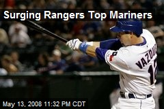 Surging Rangers Top Mariners
