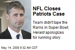 NFL Closes Patriots Case