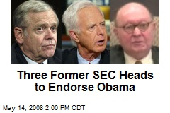Three Former SEC Heads to Endorse Obama