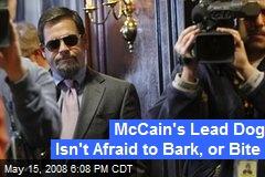 McCain's Lead Dog Isn't Afraid to Bark, or Bite