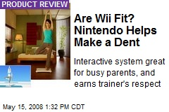 Are Wii Fit? Nintendo Helps Make a Dent