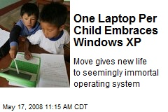 One Laptop Per Child Embraces Windows XP