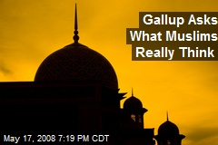 Gallup Asks What Muslims Really Think