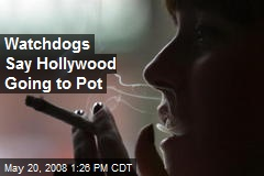 Watchdogs Say Hollywood Going to Pot