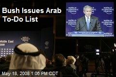 Bush Issues Arab To-Do List