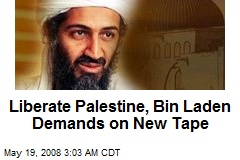 Liberate Palestine, Bin Laden Demands on New Tape