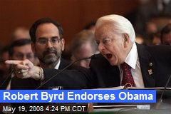 Robert Byrd Endorses Obama