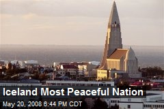 Iceland Most Peaceful Nation
