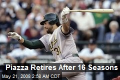 Piazza Retires After 16 Seasons