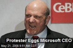 Protester Eggs Microsoft CEO