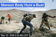 Manson Body Hunt a Bust