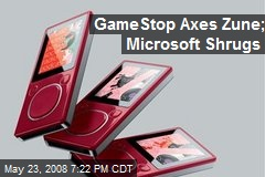 GameStop Axes Zune; Microsoft Shrugs