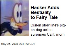 Hacker Adds Bestiality to Fairy Tale