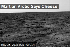 Martian Arctic Says Cheese