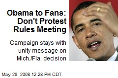 Obama to Fans: Don't Protest Rules Meeting