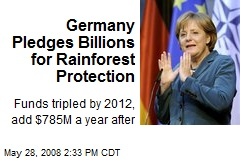 Germany Pledges Billions for Rainforest Protection