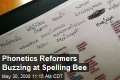 Phonetics Reformers Buzzing at Spelling Bee