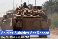 Soldier Suicides Set Record