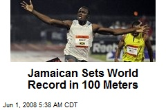Jamaican Sets World Record in 100 Meters
