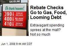 Rebate Checks Go to Gas, Food, Looming Debt