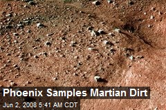 Phoenix Samples Martian Dirt