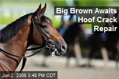 Big Brown Awaits Hoof Crack Repair