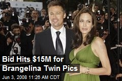 Bid Hits $15M for Brangelina Twin Pics