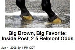 Big Brown, Big Favorite: Inside Post, 2-5 Belmont Odds