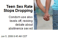 Teen Sex Rate Stops Dropping