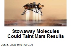 Stowaway Molecules Could Taint Mars Results