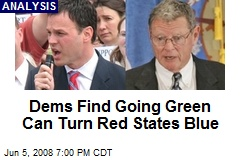 Dems Find Going Green Can Turn Red States Blue