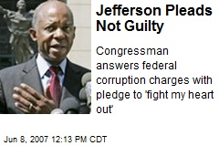 Jefferson Pleads Not Guilty