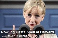 Rowling Casts Spell at Harvard